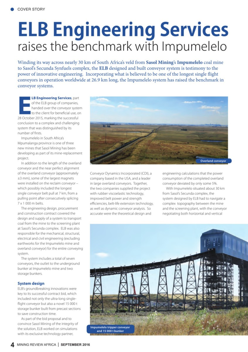 Mining review africa issue 9 2016 malvernweather Choice Image